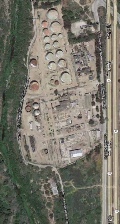 Refinery arial view