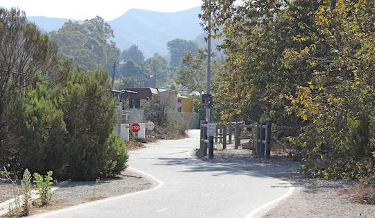 trail across parking lot png
