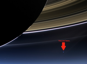 Earth from Saturn small