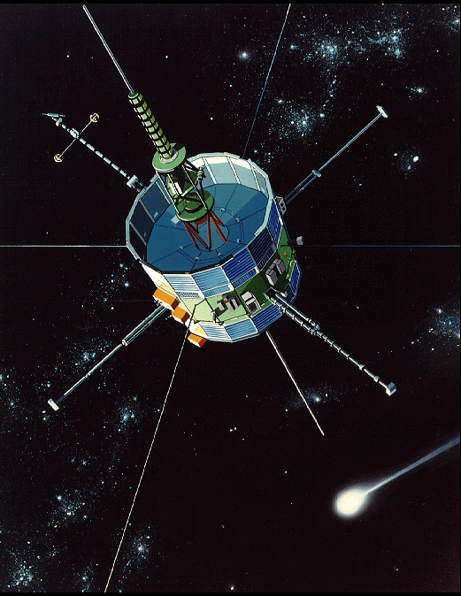 ISEE3 in orbit drawing