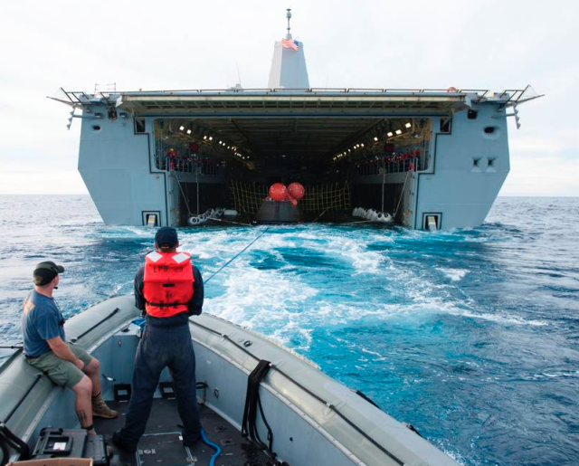 Orion to Recovery Ship USS Anchorage